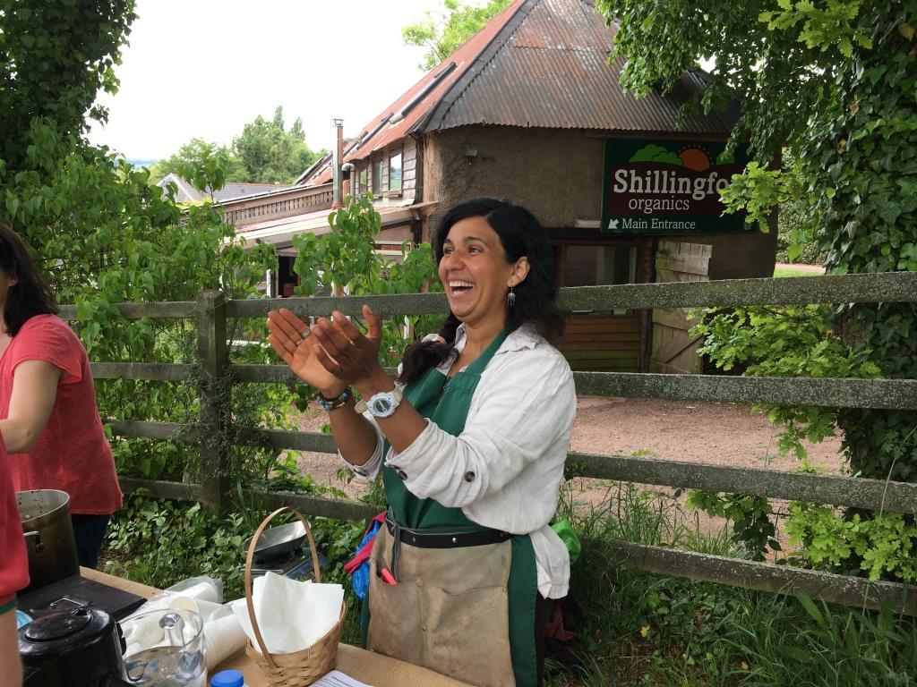 Fatma Sabat, farm school creator and facilitator, shillingford organics, pic by exploring exeter
