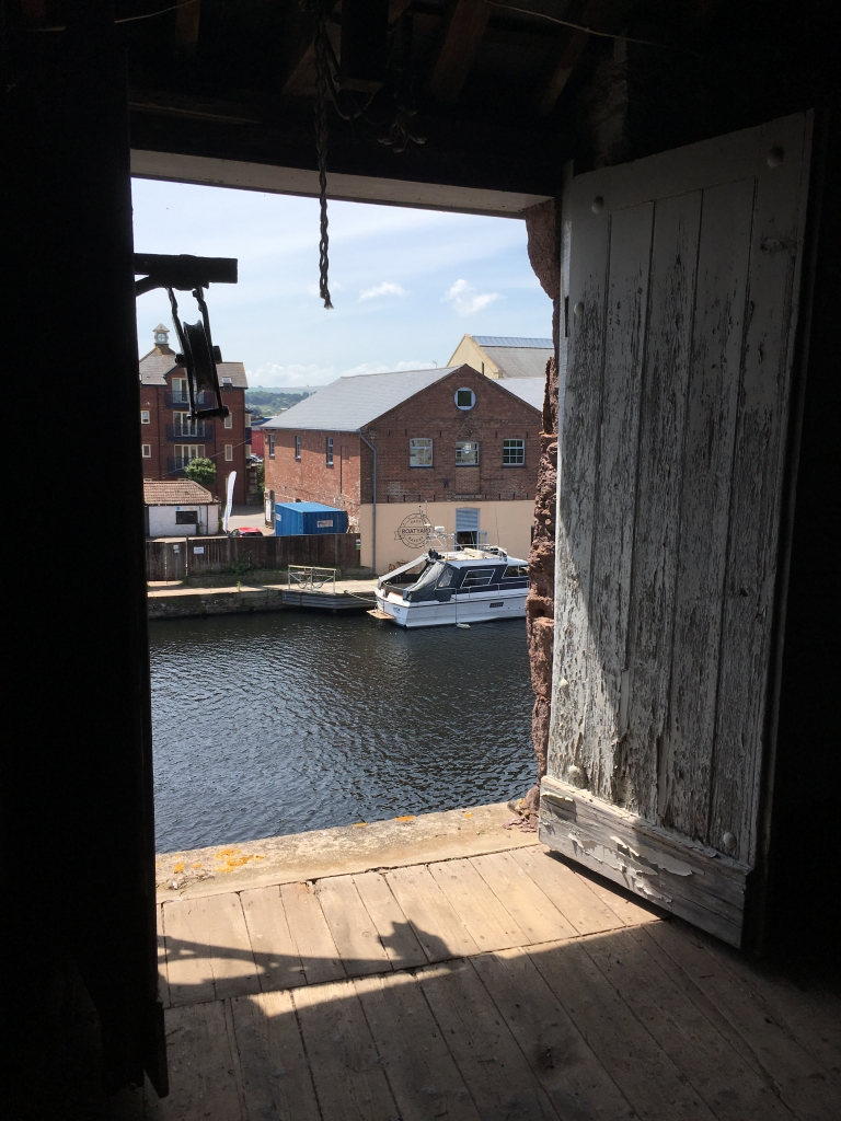 The view from the rehearsal room from the Boat Shed, by stephanie Darkes, Exploring exeter