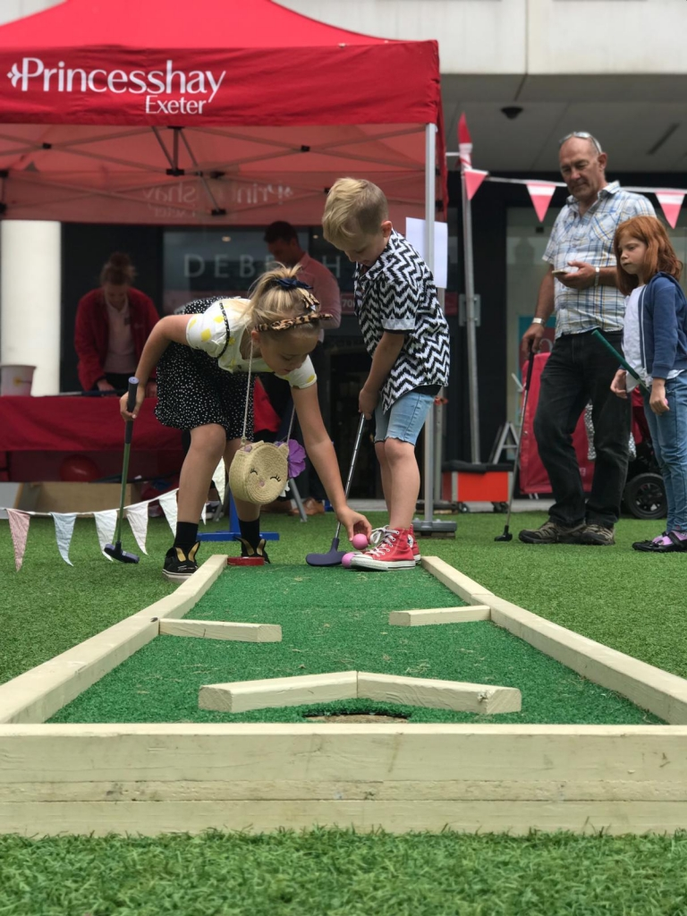 Princess'wahey'! The Foster four have fun at Princesshay's 'Summer of Fun' Exploring exeter 2019
